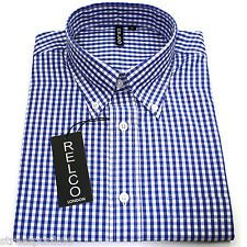Short Sleeved Blue Gingham Check